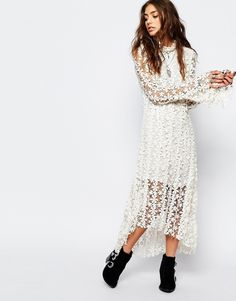 Image 1 ofStevie May Endevour Lace Midi Dress in White
