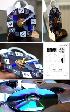 Make a clock from an old CD