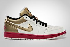 pretty nice 65116 9c8f6 Air Jordan 1 Low SailSport Fuschia - Metallic Gold - Black