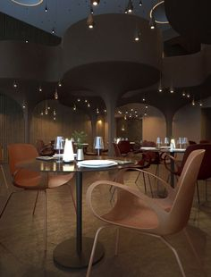 Twister Restaurant by Sergey Makhno and Vasiliy Butenko.  Inspired by Rain and Tornados. Very Interesting!