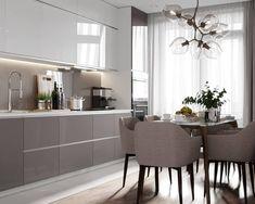 Кухня-гостиная 27 кв.м. в Санкт-Петербурге.