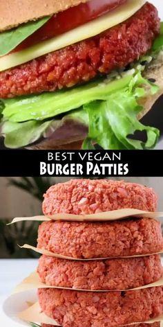Tasty Vegetarian Recipes, Vegan Dinner Recipes, Vegan Recipes Easy, Whole Food Recipes, Paleo, Cooking Recipes, Vegan Burger Recipes, Delicious Recipes, Keto Recipes