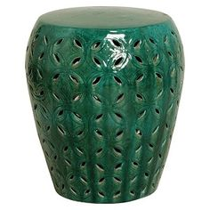 Lattice Garden Stool - Large Green: The Southern Home featuring French Country & Shabby Chic Home Decor Ceramic Stool, Ceramic Garden Stools, Lattice Garden, Beach House Decor, Home Decor, Shabby Chic Homes, Four Seasons, Pottery, Hollywood