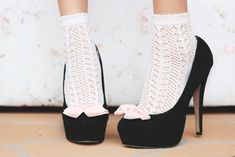 Socks and shoes - only acceptable with closed toe shoes! Frilly/lacy socks are…