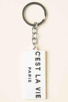 Brandy ♥ Melville | C'est La Vie Keychain - Accessories