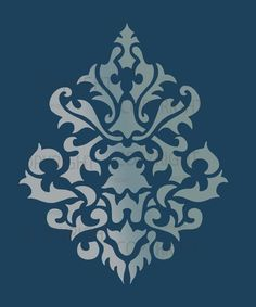 Large Wall Damask STENCIL Pattern FAUX  MURAL 1011. $11.75, via Etsy.