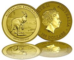 The 2013 Australian Kangaroo Gold Coins are one of our favorite investments and collectibles. They combine great features of being genuine legal tender Gold Coins, mintages that are strictly limited, and a design that changes every year.  Australian Gold Kangaroos offer the Gold Coin collector both the benefit of Gold price increases and the potential for numismatic appreciation based on collector appeal and rarity.