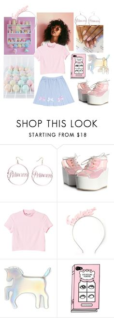 """Kawaii Princess 🌈👸"" by sapphire-stone ❤ liked on Polyvore featuring Monki, Crown and Glory and WithChic"