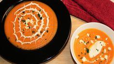 Κολοκυθόσουπα Βελουτέ με Λαχανικά και Κρέμα Γιαουρτιού Thai Red Curry, Ethnic Recipes, Blog, Blogging