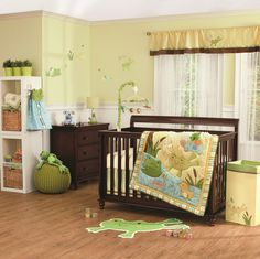 """in the pond"" nursery bedding from #carters"