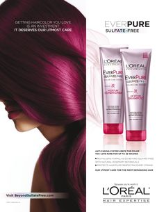L'Oreal Ever Pure Hair Care Advertising