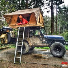 Gotta love this setup. Shout out to @ylloh_2 for this great photo. #TJ #jeep #jeeps #jeeptent #camping #jeepgirlfridays #jeepher #JEEPFLOW