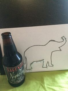 Amanda takes on EVERYTHING!: String Art #1: The Elephant