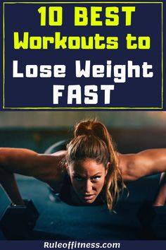 Exercising and diet are essential to lose weight. Here are the 10 best workouts to lose weight fast. Boost your weight loss with those workouts. The best exercises to burn belly fat and get fit faster. Workout To Lose Weight Fast, Fast Workouts, Lose Weight In A Week, Losing Weight Tips, How To Lose Weight Fast, Stomach Workouts, Toning Workouts, Fitness Workouts, Fitness Motivation