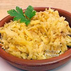 cazuela de bacalao dorado Mashed Potatoes, Macaroni And Cheese, Cabbage, Grains, Rice, Vegetables, Ethnic Recipes, Food, Casseroles