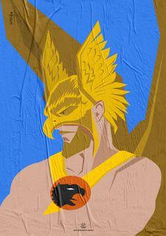 Wiskow • Amor Bandido • Pôster Série Super-Heróis Barbudos   #Hawkman #hq #quadrinhos #design #posters