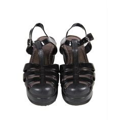 Platform Jelly Sandals Black (€19) ❤ liked on Polyvore featuring shoes, sandals, footwear, jelly sandals, summer shoes, closed toe sandals, floral print sandals and floral shoes