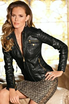 Leather Jacket - Boston Proper- Leather will never go out of style