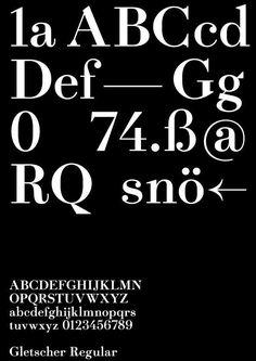 the-book-design:  Gletscher Regular——www.facebook.com/heavyweightfoundry
