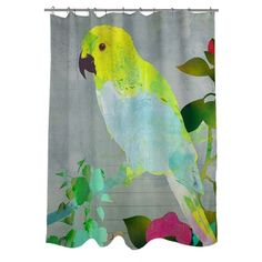 Shop For Thumbprintz Collage Parrot Shower Curtain. Get Free Delivery At  Overstock.com