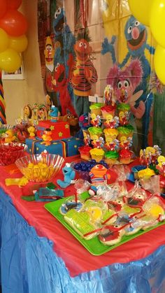 Sesame Street Candy Buffet