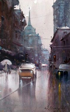 Dusan Djukaric  Watercolor, 27x45 cm