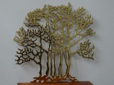 Large Mid Century Vintage BRASS TREE of LIFE  Mid Century Wall Sculpture