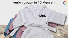 Baby / Peuter badjas met naam (Verschillende kleuren)