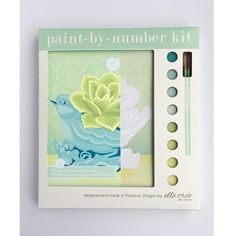 Succulent in Bird Planter Paint by Number Kit