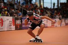 Time trial start.  Speed skate.