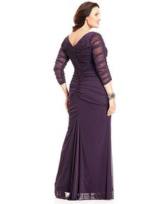 Adrianna Papell Plus Size Tiered Empire Gown | Adrianna papell