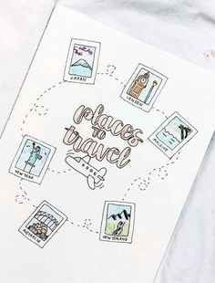 travel idea inspiration bullet journal travel wish list This could be a really cute travel journal inspiration page. Bullet Journal Inspo, Bullet Journal Voyage, Journal D'inspiration, Bullet Journal Travel, Bullet Journal 2019, Bullet Journal Notebook, Bullet Journal Aesthetic, Journal Themes, Bullet Journal Spread
