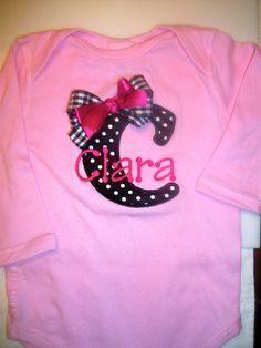 Baby Girl Onesie by CelebratedDesigns on Etsy, $22.95