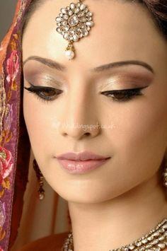 Asian bridal makeup from Pam Uppal Hair and Make-up. #indianwedding