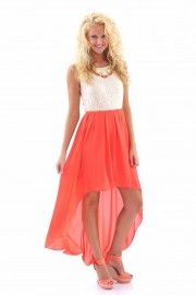 Through the Looking Glass Dress-Coral