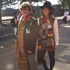 Pin for Later: 27 Wonderful Doctor Who Costume Ideas For Whovians Four and Amy Pond Both of these Whovians do Tom Baker's Doctor great casual justice.