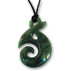 Koru Twist Greenstone Jade Pendant (30mm) $99.96
