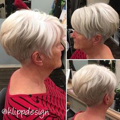 Over 50 Tapered White Blonde Pixie Short Thin Hair, Short Hairstyles For Thick Hair, Short Grey Hair, Mom Hairstyles, Short Hair With Layers, Short Hair Cuts For Women, Short Hair Styles, Short Stacked Hair, Haircuts