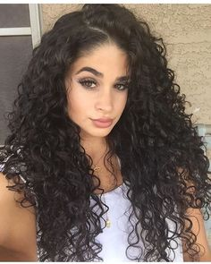 Long Curly Wigs Curly 100% Human Hair Wig Curly Black Full Lace Human Hair Wig
