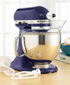If I ever get married, this is going at the top of the registry list - in Cranberry - KitchenAid KSM150PS Artisan 5 Qt. Stand Mixer