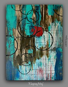 Original Abstract 18x24 Modern Textured Acrylic Painting by Sabina D'Antonio. $425.00, via Etsy.