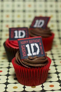 One Direction Birthday  Cupcakes