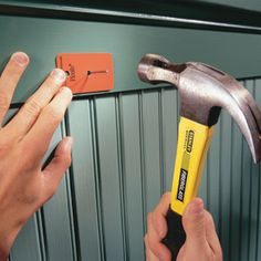 DIY Tip of the Day: Hammer Mark Shield. Prevent accidental hammer dimples by using a sample piece of laminate (available at any home center) as a shield. Drill a hole slightly larger than the diameter of the nailhead in the center of the laminate, then set the sample over the nail and pound it in until it's flush. Remove the laminate and set the head with a nail set.     www.needatradesman.co.nz