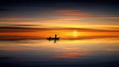 Free Image on Pixabay - Sunset, Ocean, Boat, Human, Sea Sunset Pictures, Pictures Images, Free Pictures, Free Images, Nature Wallpaper, Hd Wallpaper, Sunrise Wallpaper, Beach Wallpaper, Ideas Hijab