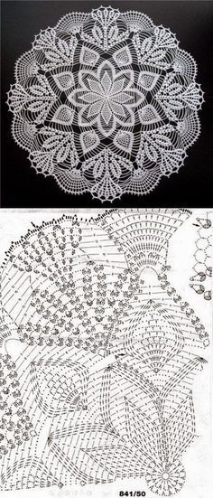Online Knitting and Crochet Pattern Software. Knitinspire is a pattern drafting software that allows you to create patterns for both crochet and knitting. Free Crochet Doily Patterns, Crochet Circles, Crochet Motifs, Crochet Diagram, Crochet Chart, Thread Crochet, Crochet Designs, Crochet Stitches, Free Pattern