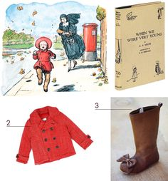 Get the Look - Red Jacket and Brown Boots - When We Were Very Young - Illustrations and Book Cover