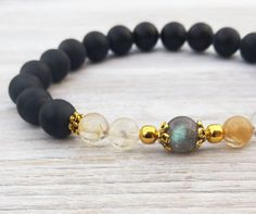Check out this item in my Etsy shop https://www.etsy.com/uk/listing/251399383/labradorite-bracelets-citrine-wealth