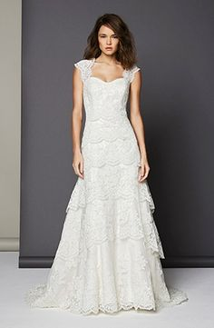 Sweetheart A-Line Wedding Dress  with No Waist/Princess Seams in Lace. Bridal Gown Style Number:32987471