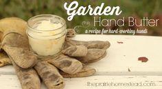 homemade hand cream recipe for dry, hardworking hands