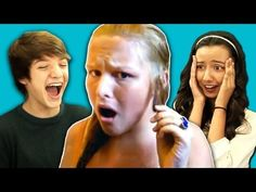 ▶ Teens React to Hair Tutorial Gone Wrong - YouTube